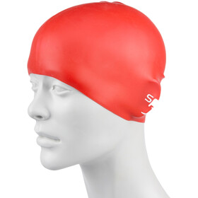 speedo Plain Moulded Silicone Cap Kinder red